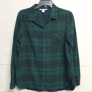 OLD NAVY Plaid Flannel Button Shirt Women's L